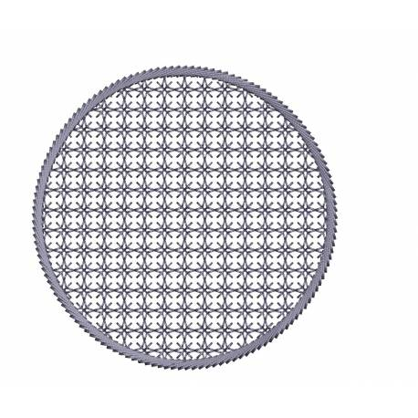 Motif Filled Circle Embroidery Design Freebie