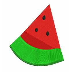 Half Cut Watermelon Embroidery Design