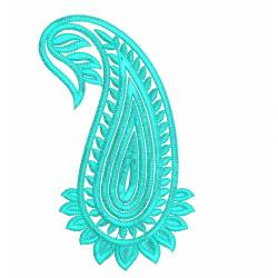 Paisley Embroidery Design 5x7