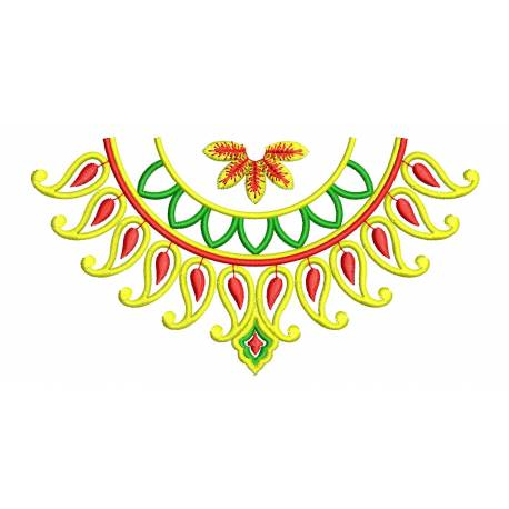 Neckline 5x7 Embroidery Design