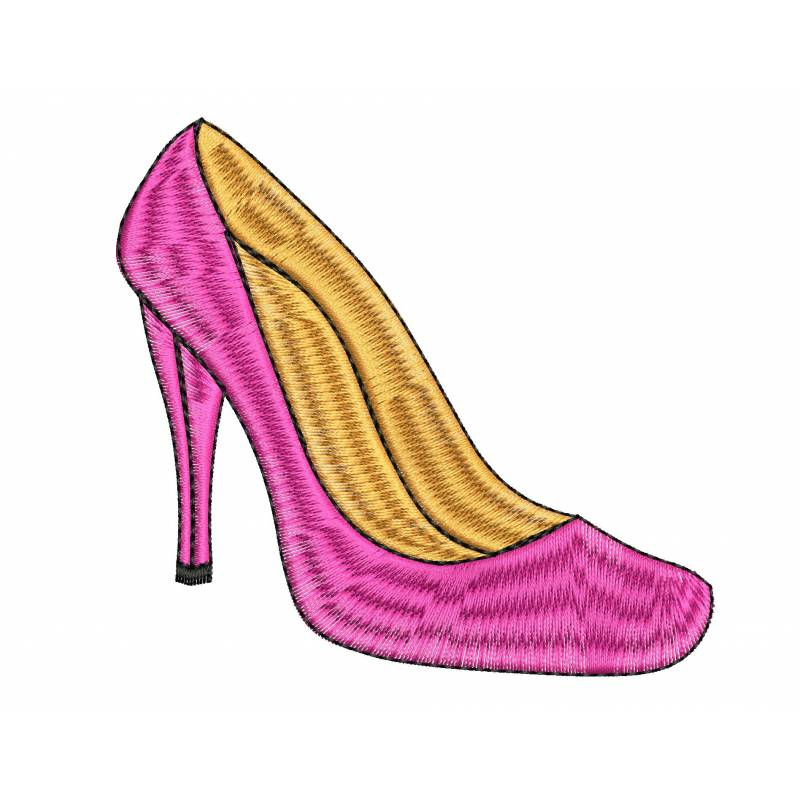 Heel Embroidery Design