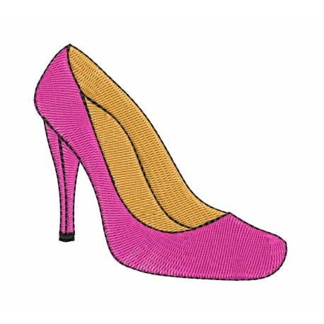 Lady Heel Embroidery Design
