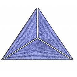 Filled Triangle Embroidery Design