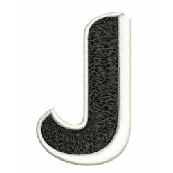 Jumbo Filled Alphabet J