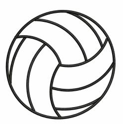 Volley Ball Outline Embroidery Design
