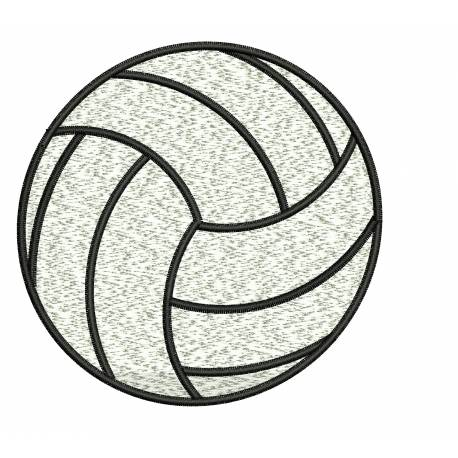 Filled Volley Ball Embroidery Design