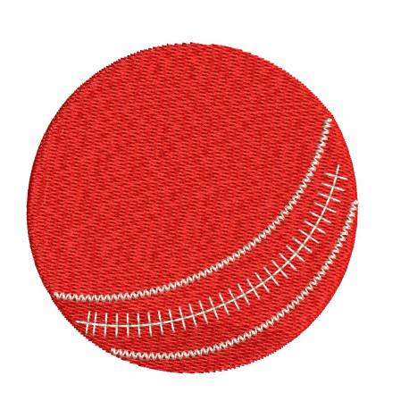 Cricket Red Ball Embroidery Design