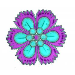 Filled Flower Embroidery Design