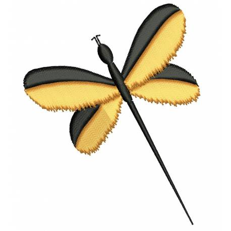 Dragon Fly Embroidery Design