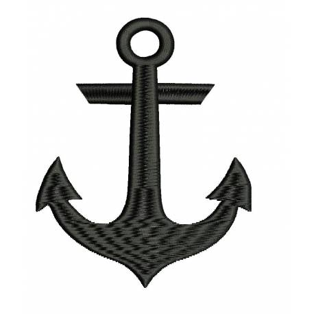 Ship Anchor Silhouette Design