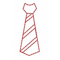 Tie Outline Embroidery Design