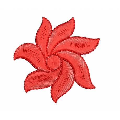 Red Floral Machine Embroidery Freebie