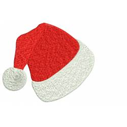 Christmas Santa's Cap Embroidery Design