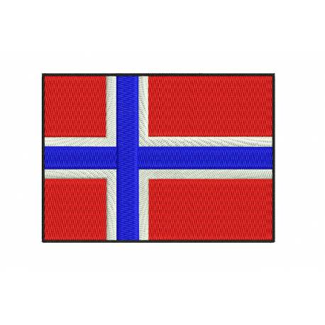 Norway National Flag Embroidery Design