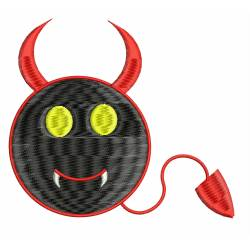 Devil Smiley Embroidery Design