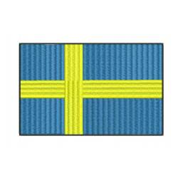 Sweden National flag embroidery design