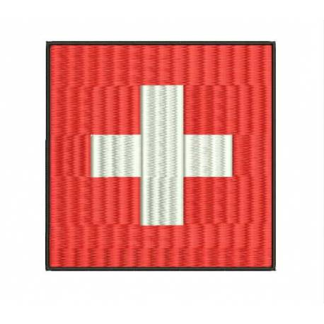 Switzerland National Flag Embroidery design