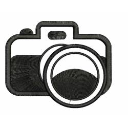 Camera Silhouette Embroidery Design