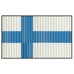 Finland National Flag Embroidery Design