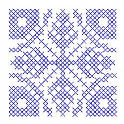 Cross Stitches Block Embroidery Design