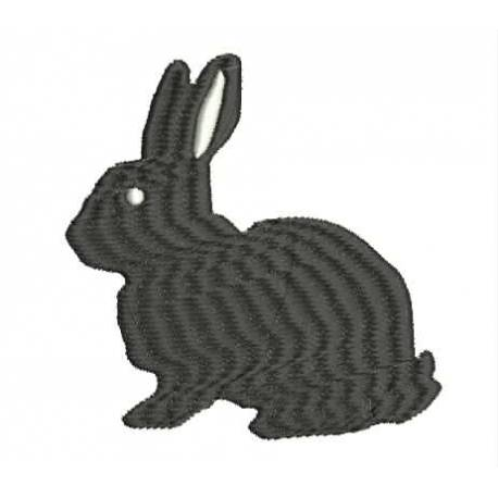 Silhouette Rabbit Embroidery design