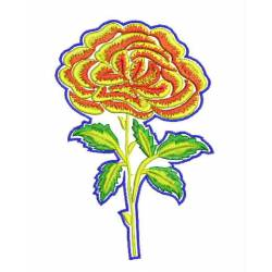 New Rose Flower PaisleyEmbroidery