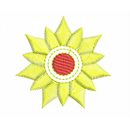 Sunflower Embroidery Design2x2 _Embroideryshristi