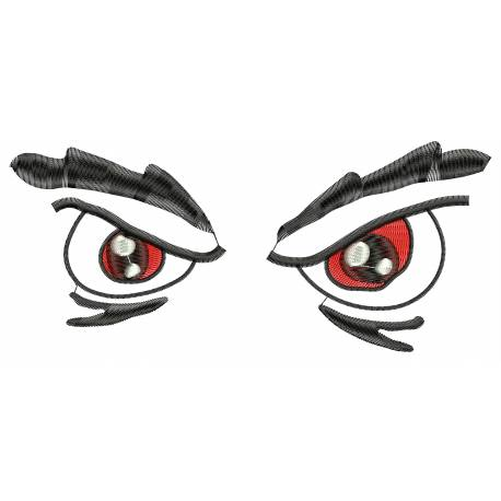 Angry Eyes Machine Embroidery Design
