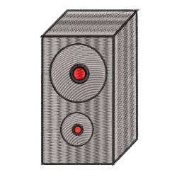 Speaker Sound Embroidery Design