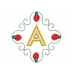 Christmas Monogram Alphabet A