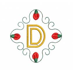 Christmas Monogram Alphabet D