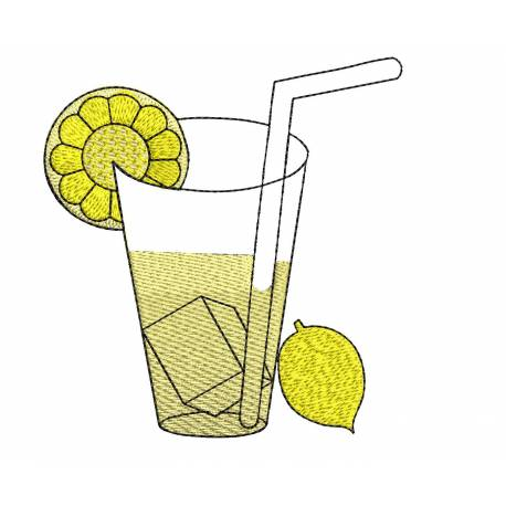 Lemon Drink Machine Embroidery design