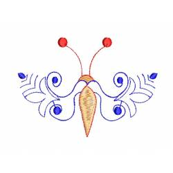 Flying Insect Floral Embroidery Design