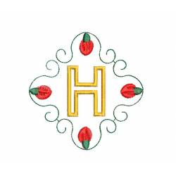 Christmas Monogram Alphabet H