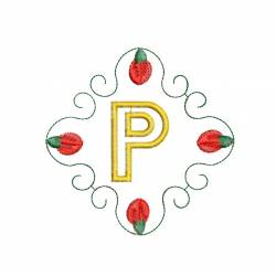 Christmas Monogram Alphabet P