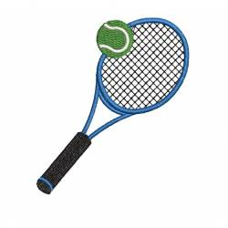 Tennis with Ball Embroidery