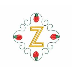 Christmas Monogram Alphabet Z