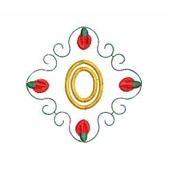 Christmas Monogram Number 0