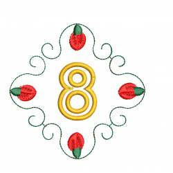 Christmas Monogram Number 8
