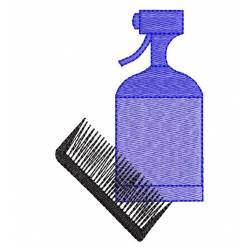 Hair Spray and Comb Beauty Care Design