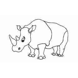 Outline Rhino Embroidery design