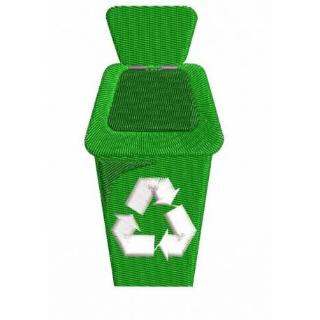Recycle Bin Machine Embroidery Design