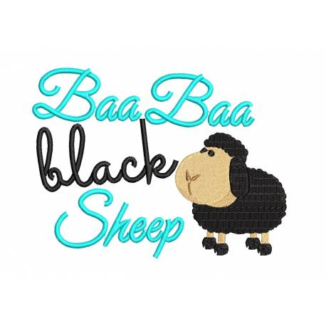 Baa Baa Black Sheep Nursery Rhyme Design