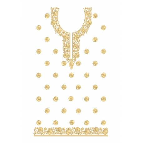 Large Complete Embroidery Dress Design