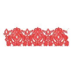 New Red Work Embroidery Border Design