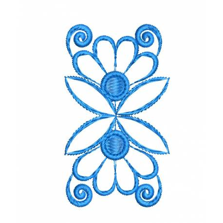 Freebie 4x4 Small Floral Machine Embroidery