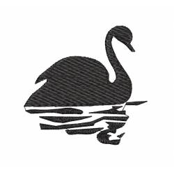Swan Silhouette Embroidery Design