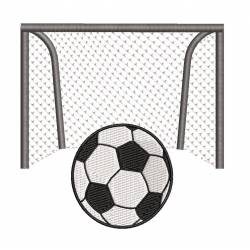 Soccer Football Goal Post Machine Embroidery Design