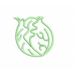 Cabbage Outline Embroidery Design
