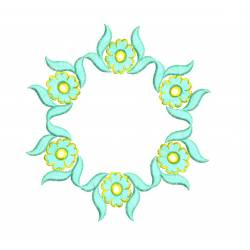 Flower Circle Floral Embroidery Design1